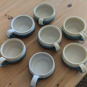 Blue crock bowls